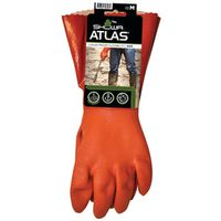 GLOVE PVC 12IN W/KNIT LINR MED