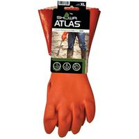 GLOVE PVC 12IN W/KNIT LINER XL