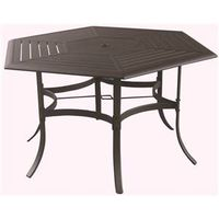 DINING TABLE SLAT 55X47IN HEX
