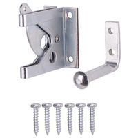 LATCH GATE OUTSWING STL ZN PLT