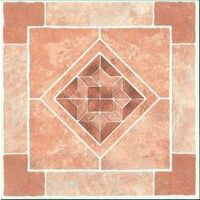 Diamond Stone Viny Floor Tile, Brown