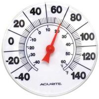 THERMETER 8IN IN/OUT, WHITE
