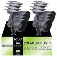 LIGHT SOLAR FLOOD BLACK 10X