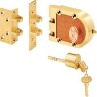 DEADBOLT SINGLE CYLINDER BRUSHED BRASS JMPR