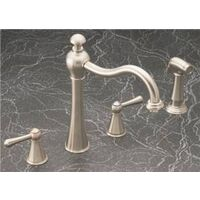 Two Handle Kitchen Faucet, Brushed Nickel