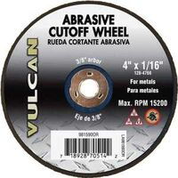 "Abrasive Cut Off Wheel, 4"" x 1/16"""