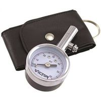 Victor 60023-8 Low Pressure Dial Tire Gauge With Bonus Leatherette Pouch