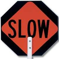 "15"" STOP/SLOW PADDLE SIGN"