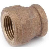 "Low Lead Brass Reducing Coupling, 3/8"" x 1/4"""