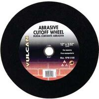 "Abrasive Cut Off Wheel, 12"" x 3/32"""
