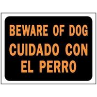Bilingual Beware Of Dog, 9&quot; x 12&quot;