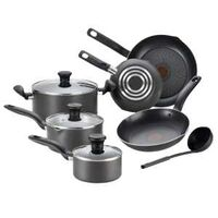 Initiatives Cookware Set, Grey 9 Pc