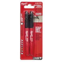 MARKER FINE POINT BLACK 2PK