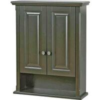 Two Door Wall Cabinet, Espresso