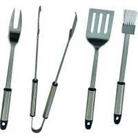 BBQ Tool Set, Stainless Steel, 4pc