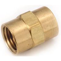 Anderson Metal 756103-06 Brass Pipe Coupling
