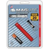 Maglite Solitaire Flashlight, AAA Red