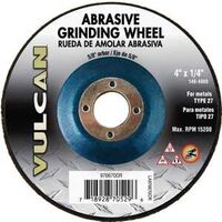 "Abrasive Cut Off Wheel, 4"" x 1/4"" x 5/8"""