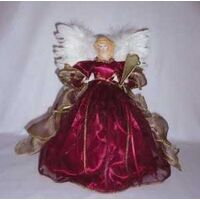 ANGELTREETOPPER BURGANDY 12IN