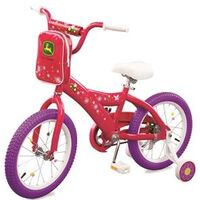 "John Deere Girls Bike, 16"" Pink"