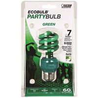 Ecobulb BPESL13T/G Compact Fluorescent Lamp, 13 W, 120 V, Mini Twist, Medium Screw ,, E27