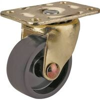 Caster Plate, Blk whl, 1 5/8""