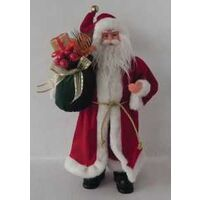 FIGURINE SANTA W/BAG 17IN