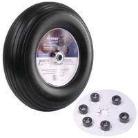 Wheelbarrow Wheels, Universal, Flat-Free, 13""