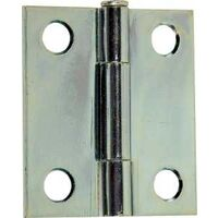 "Narrow Loose Pin Cabinet Door Hinge, 2"" x 1 1/2"" Zinc"