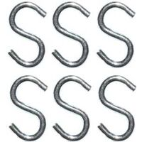 Small Open S Hooks Bright Zinc, 3/4""