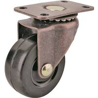 Rubber/Copper Caster Plate, 1 5/8""