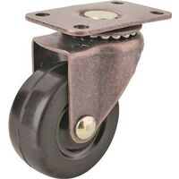 "Plate Caster, 2"" Rubber & Copper 2 Pk"