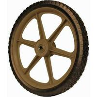 Plastic Spoked Lawn Mower Wheel with Center Hub, 14""