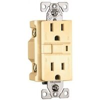 Cooper GFCI Duplex Outlet, Ivory