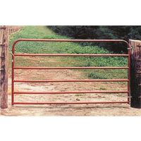 BEHRENS 20GA 6 RAIL UTILITY GATE 6X50 RED