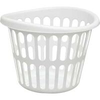 Laundry Basket, 1 Bushel White