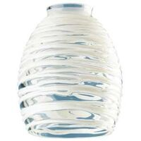 "Pendant Light Shade, 2.25"" Clear with White Rope"