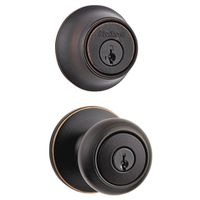 Kwikset Cove 690CV 11P CP K6 Deadbolt Entry Knob Lockset
