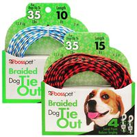 TIE OUT DOG POLY ROPE 10FT PDQ