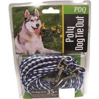 TIE OUT DOG POLY ROPE 15FT PDQ