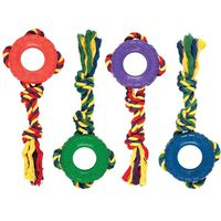 TOY PET ROPE/RUBBER TUG/TOSS