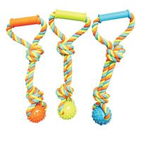 TOY PET TUG SPIKE BALL W/ROPE