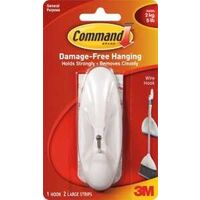 3M Command Wire Hook, White