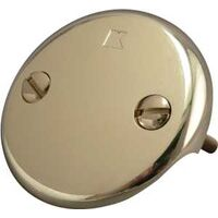 Two Hole Face Plate with Screws, Polished Brass