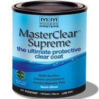 Master Clear Coat, Semi-Gloss, Qt