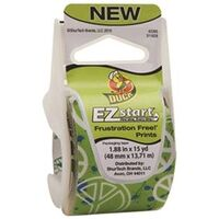 "Duck EZ Start Packaging Tape, 1.88"" x 15 Yds Green Peace"