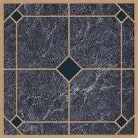"Vinyl Floor Tile, 12"" x 12"" Blue Gold"
