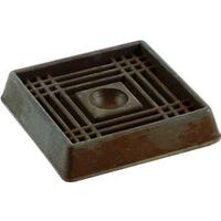 "Rubber Caster Cups, 3"" x 3"" Brown"