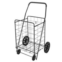 SHOPPING CART BLK 154LBS CAP