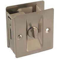 POCKET DOOR LATCH SATIN NICKEL